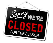 Closed for the Season Sign