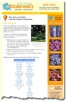 Estabrook's Garden Newsletter