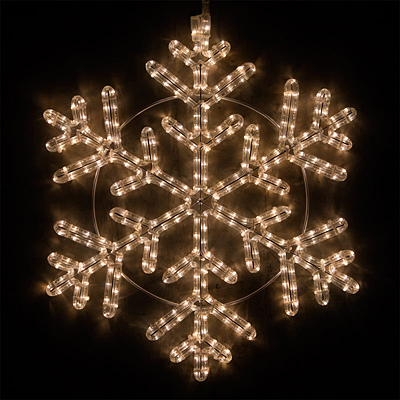 Snowflake - LED 42 Point Warm White Lights