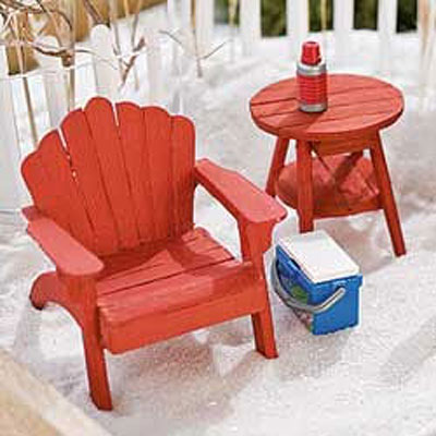 Mini Adirondack Chair - Red
