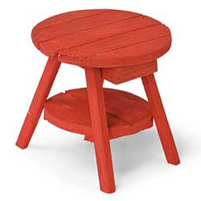 Mini Adirondack Table - Red