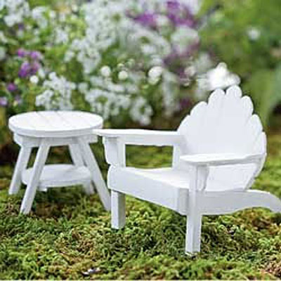 Mini Adirondack Chair - White