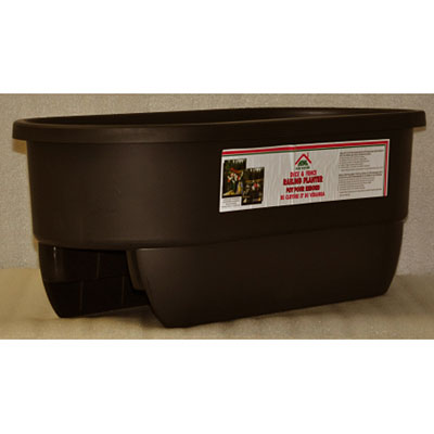 Deck Dual Rail Planter - Black