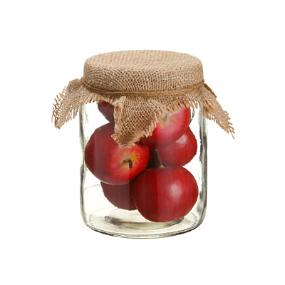 Apples in Glass Jar