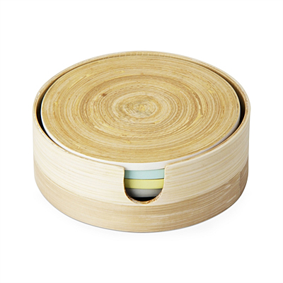 Coasters - Etched Bamboo (Set/4)