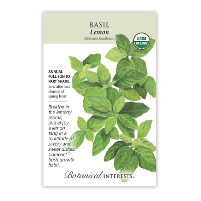 Seeds - BI Basil Lemon Org