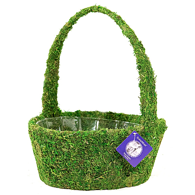 Basket - Moss Round Handle