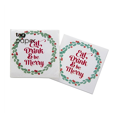 Cocktail Napkin - Be Merry