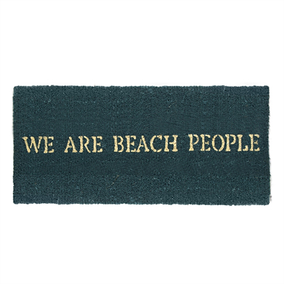 Coir Mat - We Are Beach People