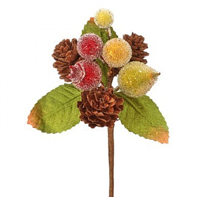 Pick - Beaded Mix Fruit Berry Pinecone