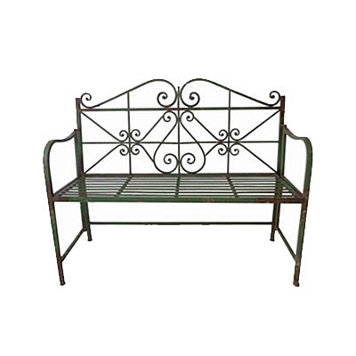 Bench - Iron Vintage Mossy Green