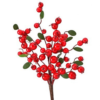 Pick - Mixed WP Berry Privet Leaf - Red