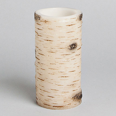 Birch LED Candle with Timer