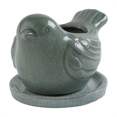 Bird Planter - Light Blue