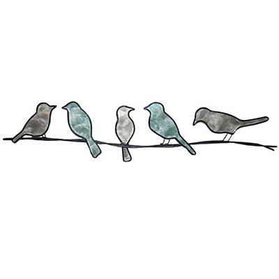 Wall Decor - Eangee Birds on a Wire - Green