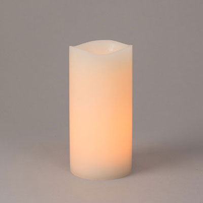 LED Pillar Candle - Black Wick