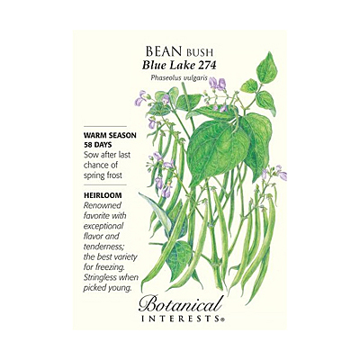 Seeds - BI Bean Bush Blue Lake 274