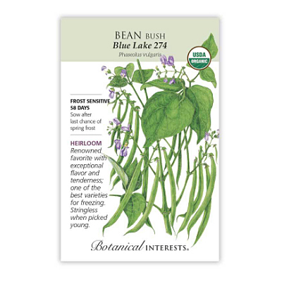 Seeds - BI Bean Bush Blue Lake 274 Org