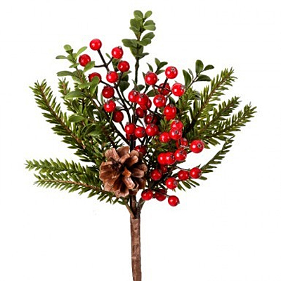 Pick - Berry PE Boxwood Fir Natural/Red/Green WP