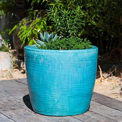 Sea Breeze Planter - Turquoise