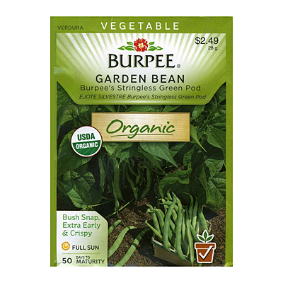 Seeds - Bean 'Garden Burpee's Stringless'