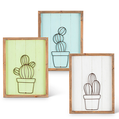 Wire Cactus Wall Art