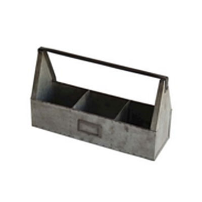 Caddy - Antique Galvanized 3 Pot