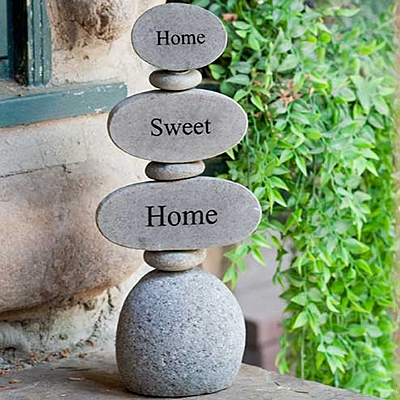Rock Cairn - Engraved Home Sweet Home