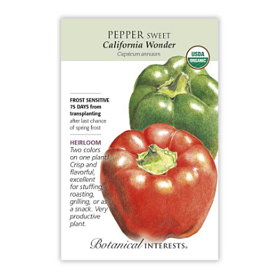 Seeds - BI Pepper Sweet California Wonder Org