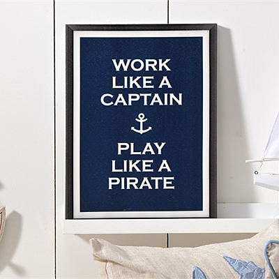 Work Like a Captain Canvas Print