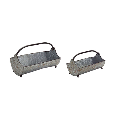 Tin Carry Tray with Handle
