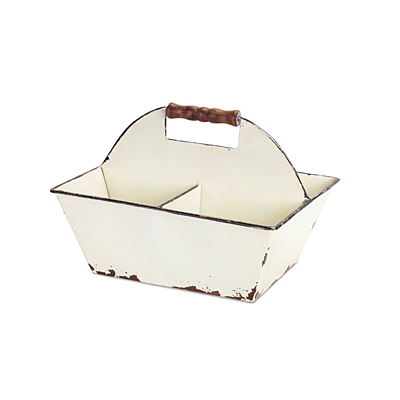 Carrying Tray with Divider - Metal