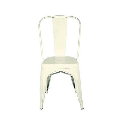 Chair - Cream Metal Dining