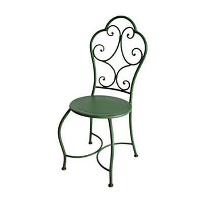 Chair - Iron Bistro Vintage Green
