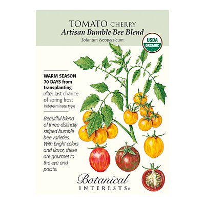 Seeds - BI Tomato Cherry Artisan Bumble Bee Blend Org