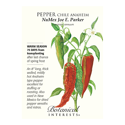 Seeds - BI Pepper Chile Anaheim NuMex Joe E Parker
