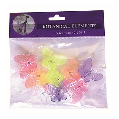 Orchid Clips - Butterfly 10 pc Bag