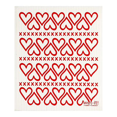 Swedish Dish Cloth - Hearts