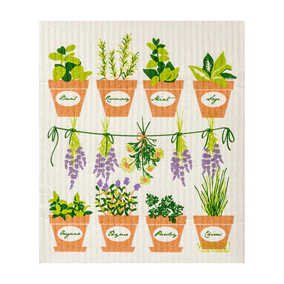 Swedish Dish Cloth - Herbs