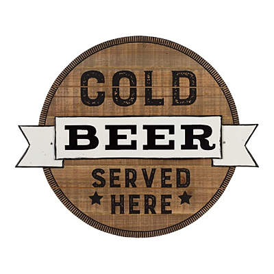 Sign - Cold Beer Served Here