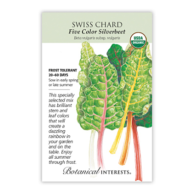 Seeds - BI Swiss Chard Five Color Silverbeet Org
