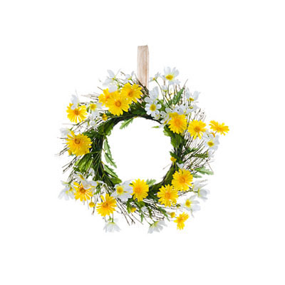 Wreath - Daisy Yellow & White