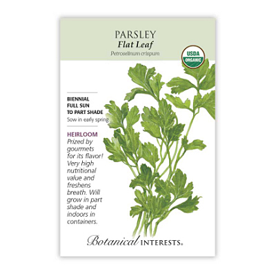 Seeds - BI Parsley Italian Dark Green Flat Org