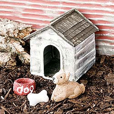 Mini Dog House with Dog