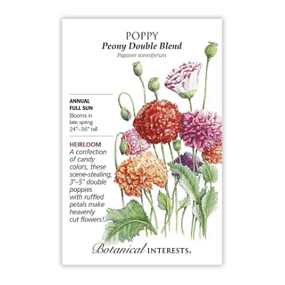 Seeds - BI Poppy Peony Double Blend