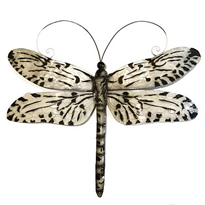 Wall Decor - Eangee Dragonfly Black & White