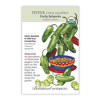 Seeds - BI Pepper Chile Early Jalapeno Org