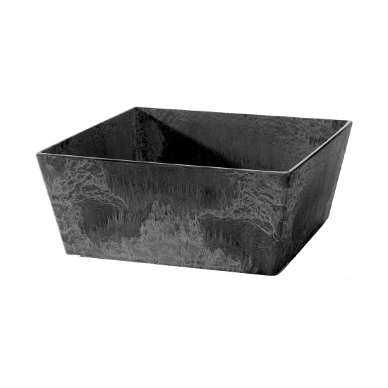 Novelty ELLA Low Square Planter - Black