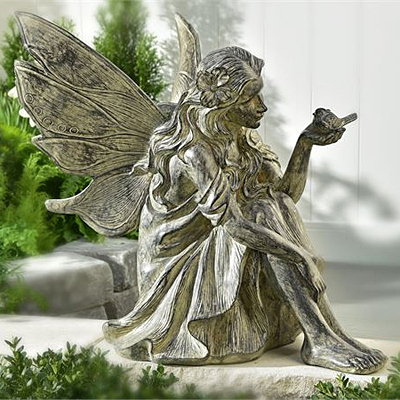 Cement Fairy Design Garden Statue