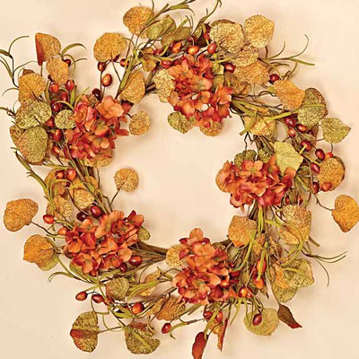 Wreath - Fall Berry, Flower & Leaf